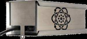 Ozongeneratorn monteras i ett väggfäste för att förhindra otillbörlig åtkomst.